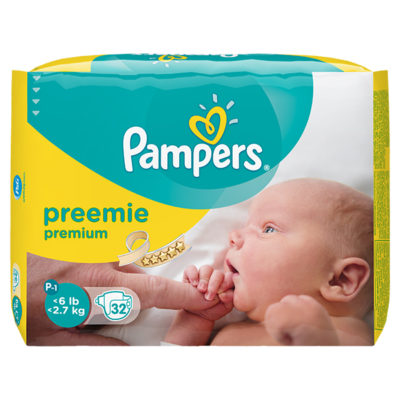 PREEMIE P-1 PAMPERS < 1,8 KG (12x20) (240/box) (90472274)