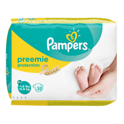 PREEMIE P-3 PAMPERS  <0,8 KG (8X32) (256/BOX) (90472199)