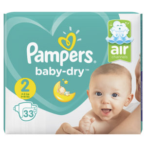 Pampers baby dry taille 2 - Laboratoire rivadis
