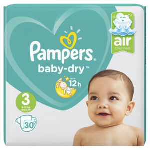 Pampers baby dry taille 3 - Laboratoire rivadis