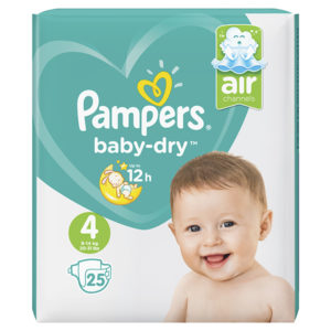 Pampers baby dry taille 4 - Laboratoire rivadis