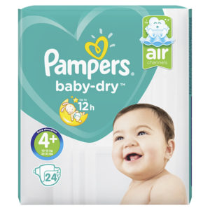 Pampers baby dry taille 4+ - Laboratoire rivadis
