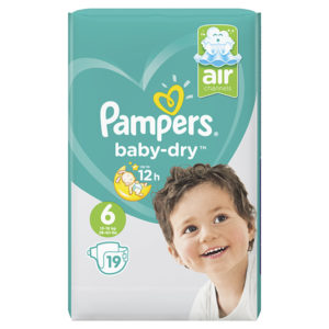 Pampers baby dry taille 6 - Laboratoire rivadis