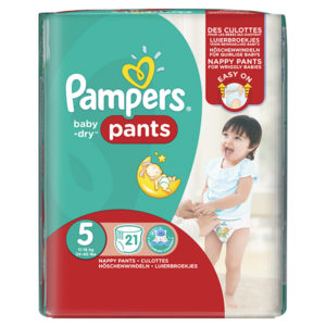 Pampers baby dry pants junior taille 5 - Laboratoire rivadis