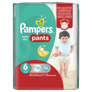 Pampers baby dry pants taille 6 - Laboratoire rivadis