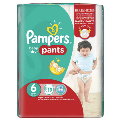 BABY DRY PANTS XL + 15 KG (4x19) ( 76/BOX) (00841524)