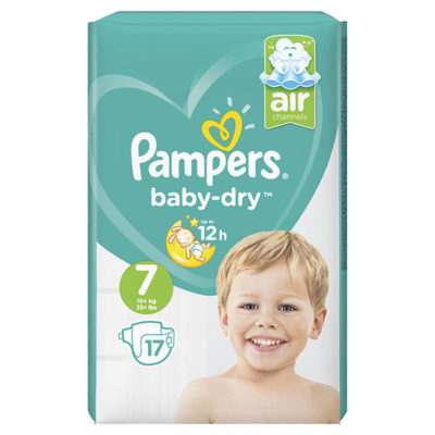 PAMPERS BD TAILLE 7  4X17 (68/box) (90298300)