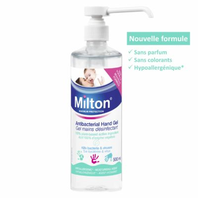 MILTON GEL MAINS DESINFECTANT LONG BEC 500ML