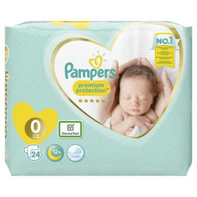 Couche Pampers premium protection <3kg - Taille 0