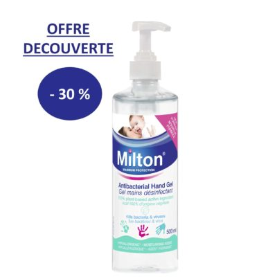 GEL MAINS DESINFECTANT 500ML - PROMOTION CARTON DE 12