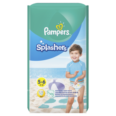 Couches Pampers Splashers +14 kg - Taille 5