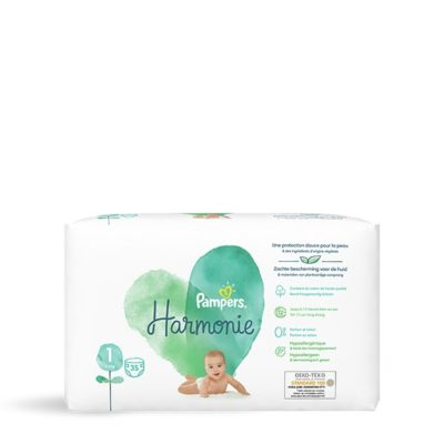 Couches Pampers Harmonie 2/5 kg - Taille 1