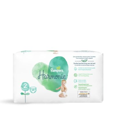 Couches Pampers Harmonie 4/8 kg - Taille 2
