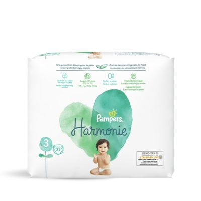 Couches Pampers Harmonie 6/10 kg - Taille 3