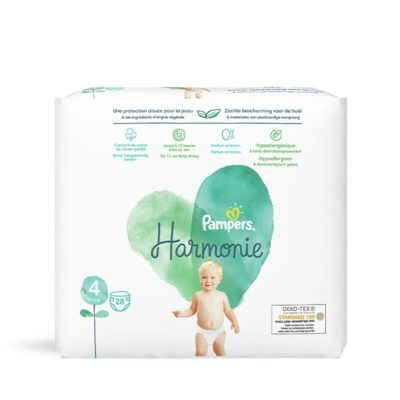 Couches Pampers Harmonie 9/14 kg - Taille 4