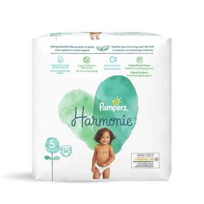 Couches Pampers Harmonie +11 kg - Taille 5