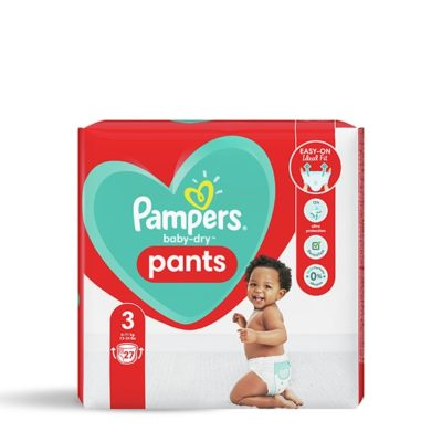 COUCHES PAMPERS BABY-DRY PANTS 6/11 KG - TAILLE 3