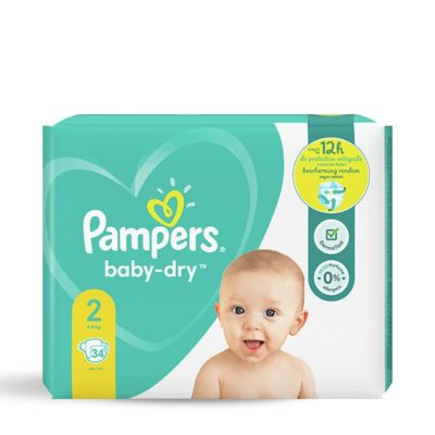 COUCHES PAMPERS BABY-DRY 4/8 KG - TAILLE 2