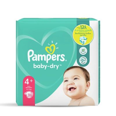 COUCHES PAMPERS BABY-DRY 10/15 KG - TAILLE 4+