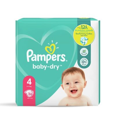 COUCHES PAMPERS BABY-DRY 9/14 KG - TAILLE 4