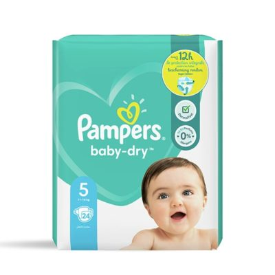 COUCHES PAMPERS BABY-DRY 11/16 KG - TAILLE 5
