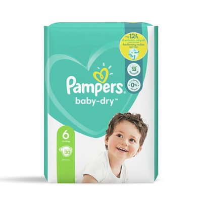 COUCHES PAMPERS BABY-DRY 13/18 KG - TAILLE 6