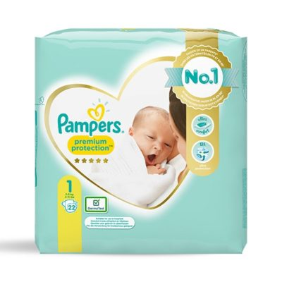 Couches Pampers premium protection 2/5 kg - Taille 1