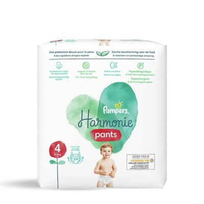 COUCHES PAMPERS HARMONIE PANTS 9/15 KG - TAILLE 4