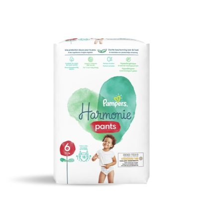 COUCHES PAMPERS HARMONIE PANTS +15KG - TAILLE 6