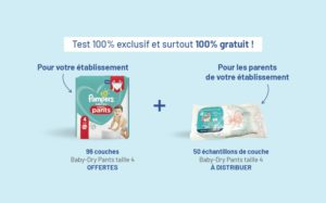 test produit pampers creche